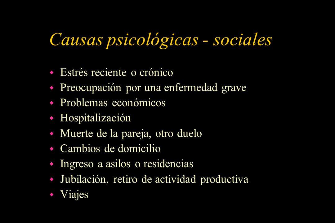 Causas psicológicas - sociales