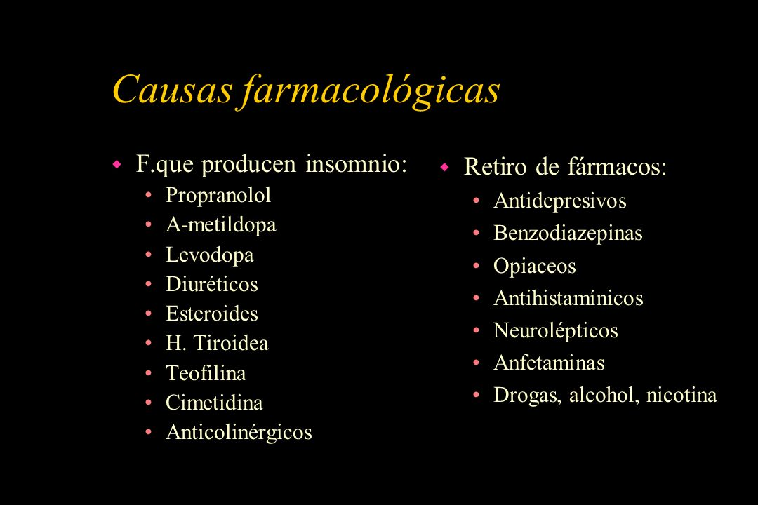 Causas farmacológicas
