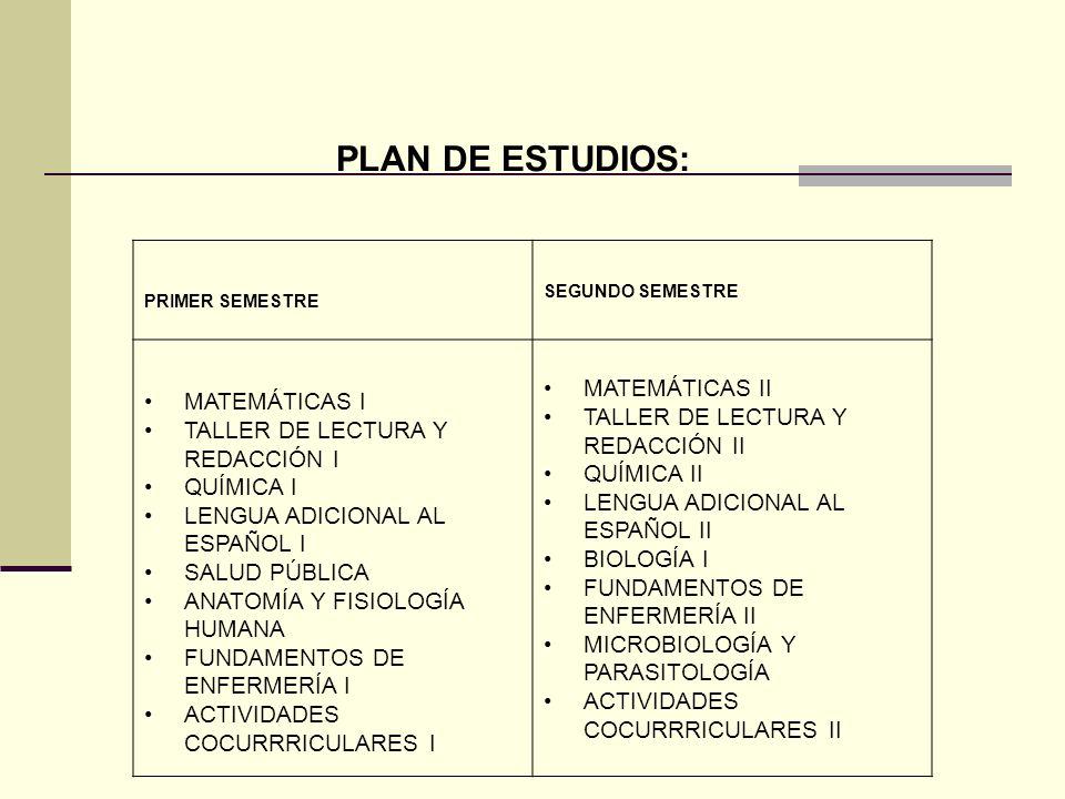 PLAN DE ESTUDIOS: MATEMÁTICAS II MATEMÁTICAS I