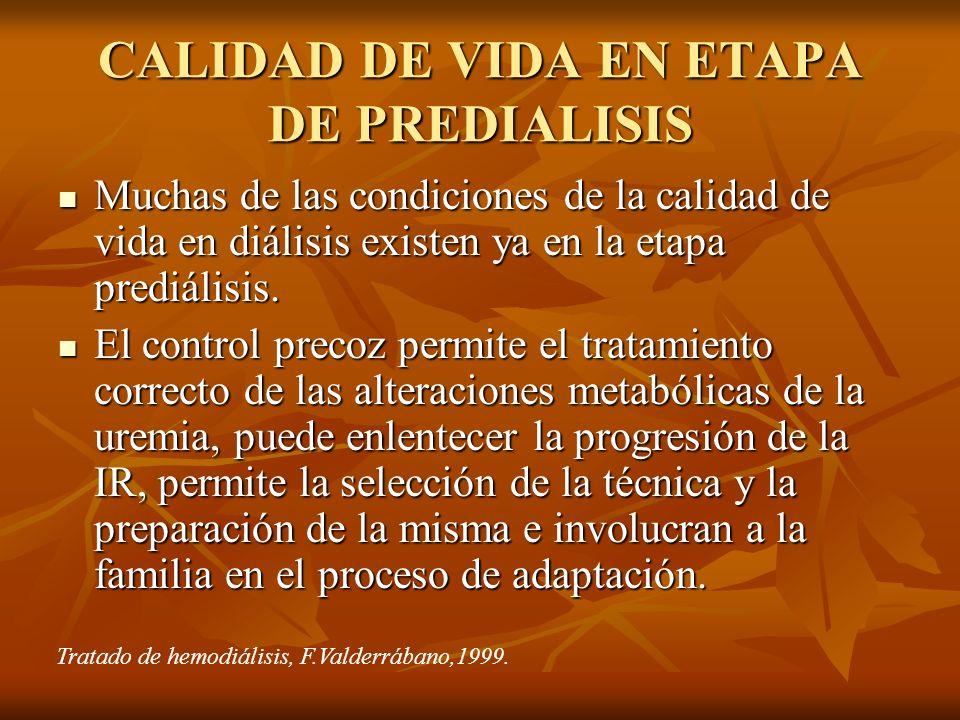 CALIDAD DE VIDA EN ETAPA DE PREDIALISIS
