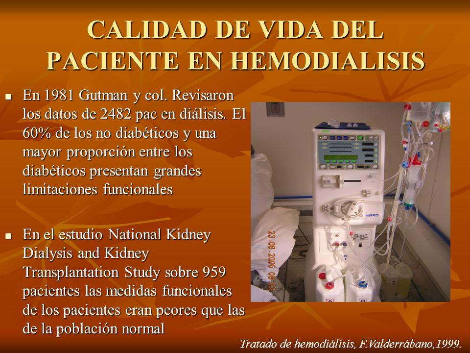 CALIDAD DE VIDA DEL PACIENTE EN HEMODIALISIS