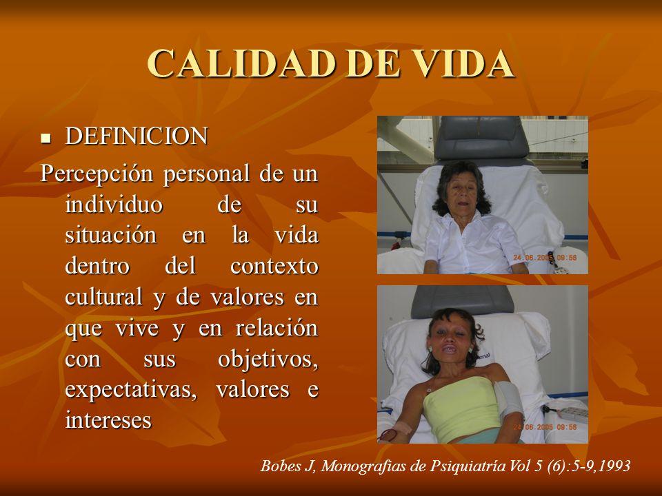 CALIDAD DE VIDA DEFINICION