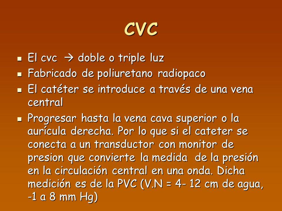 CVC El cvc  doble o triple luz Fabricado de poliuretano radiopaco