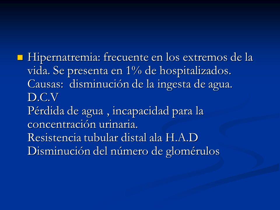 Hipernatremia: frecuente en los extremos de la vida