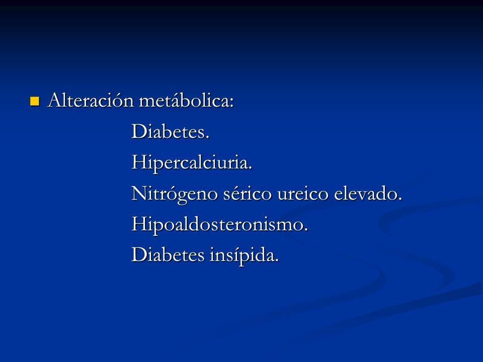 Alteración metábolica: