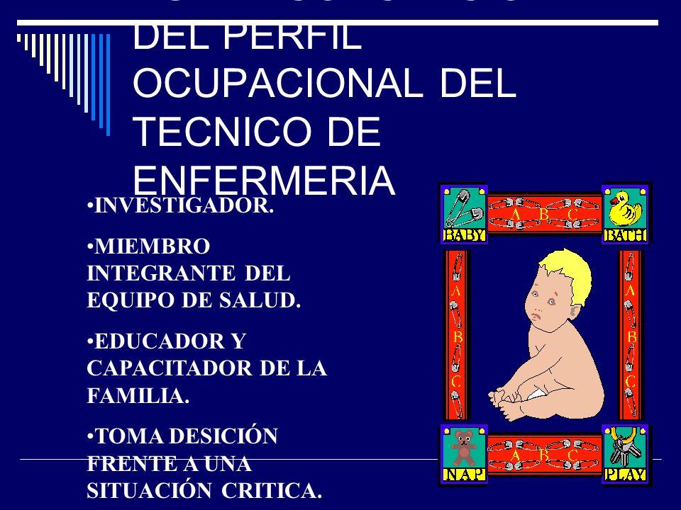 NUEVA CONCEPCIÓN DEL PERFIL OCUPACIONAL DEL TECNICO DE ENFERMERIA