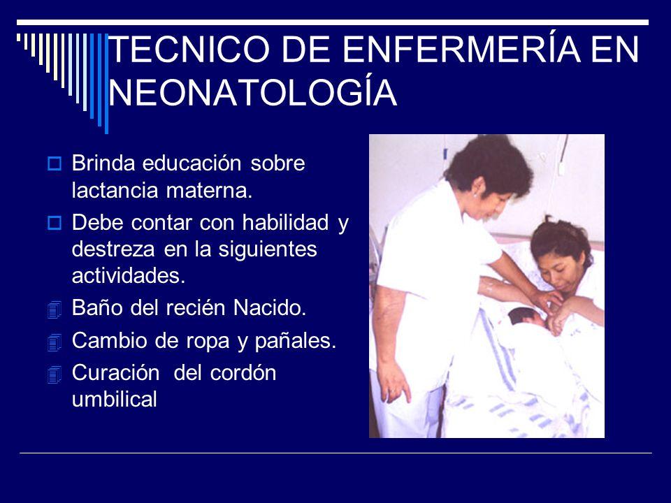 TECNICO DE ENFERMERÍA EN NEONATOLOGÍA