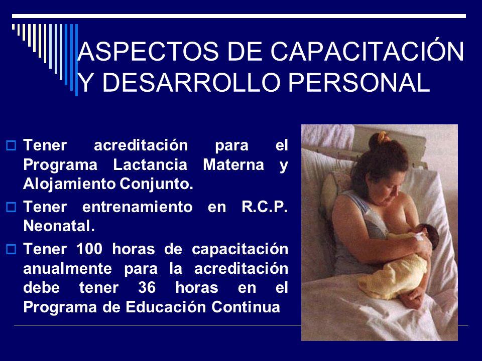 ASPECTOS DE CAPACITACIÓN Y DESARROLLO PERSONAL