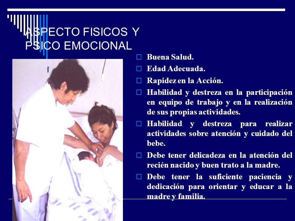 ASPECTO FISICOS Y PSICO EMOCIONAL