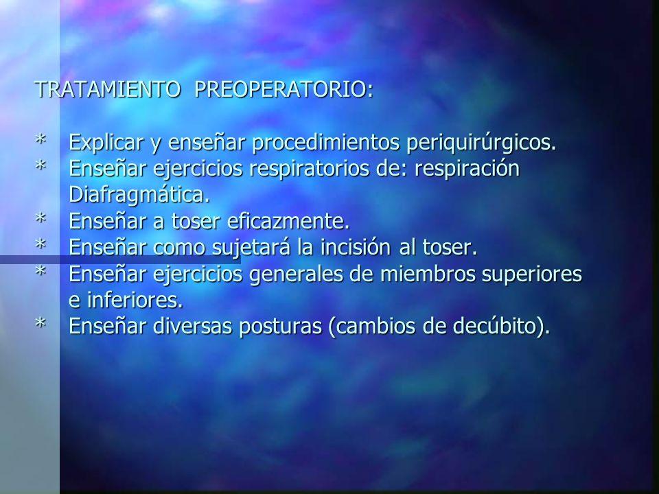 TRATAMIENTO PREOPERATORIO: