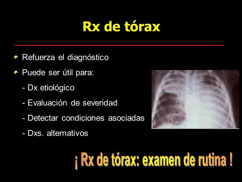¡ Rx de tórax: examen de rutina !