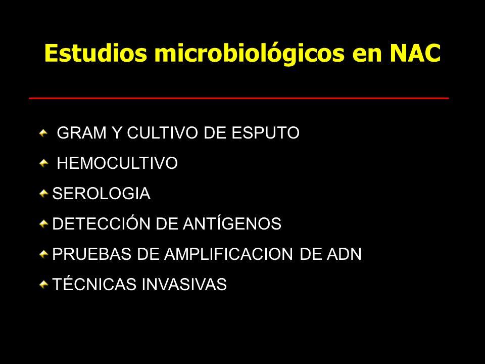 Estudios microbiológicos en NAC