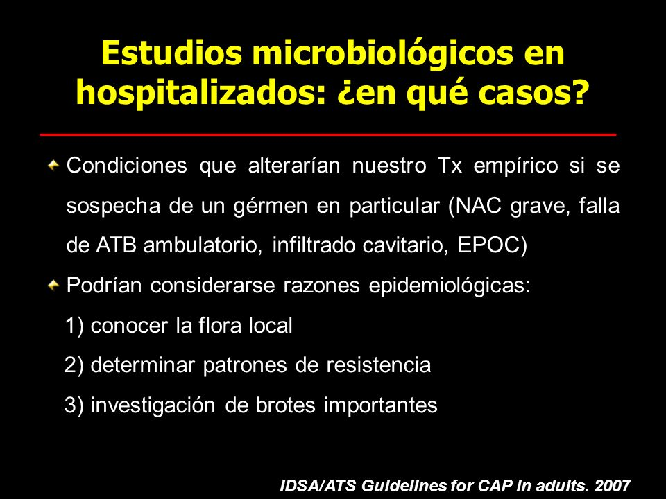 Estudios microbiológicos en hospitalizados: ¿en qué casos