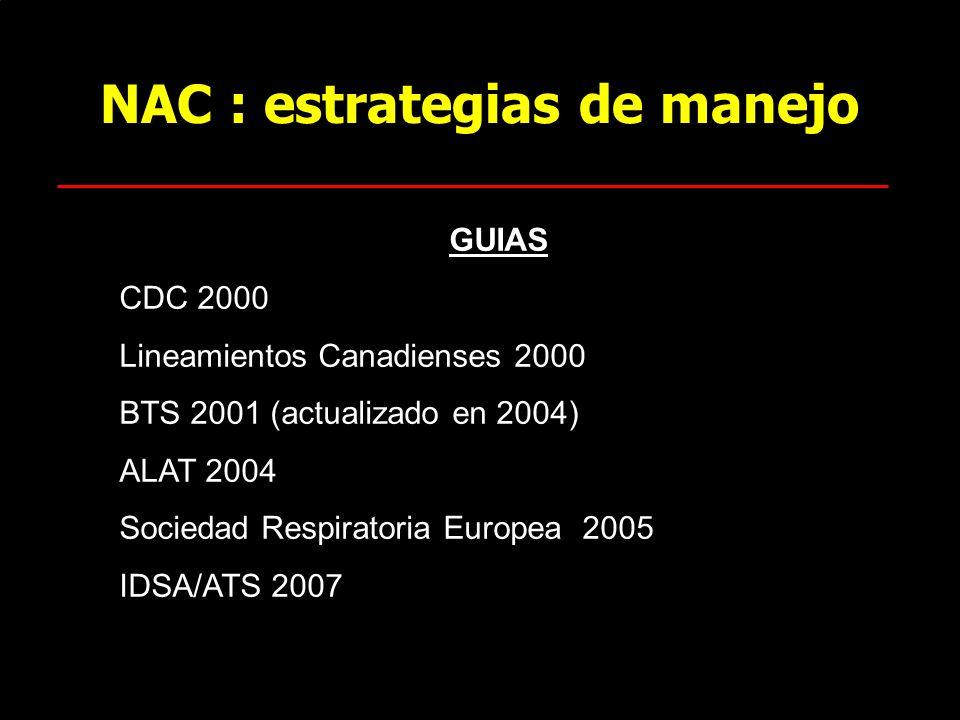 NAC : estrategias de manejo