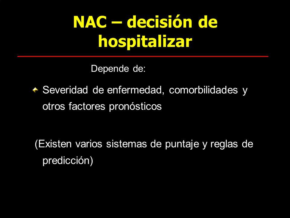 NAC – decisión de hospitalizar