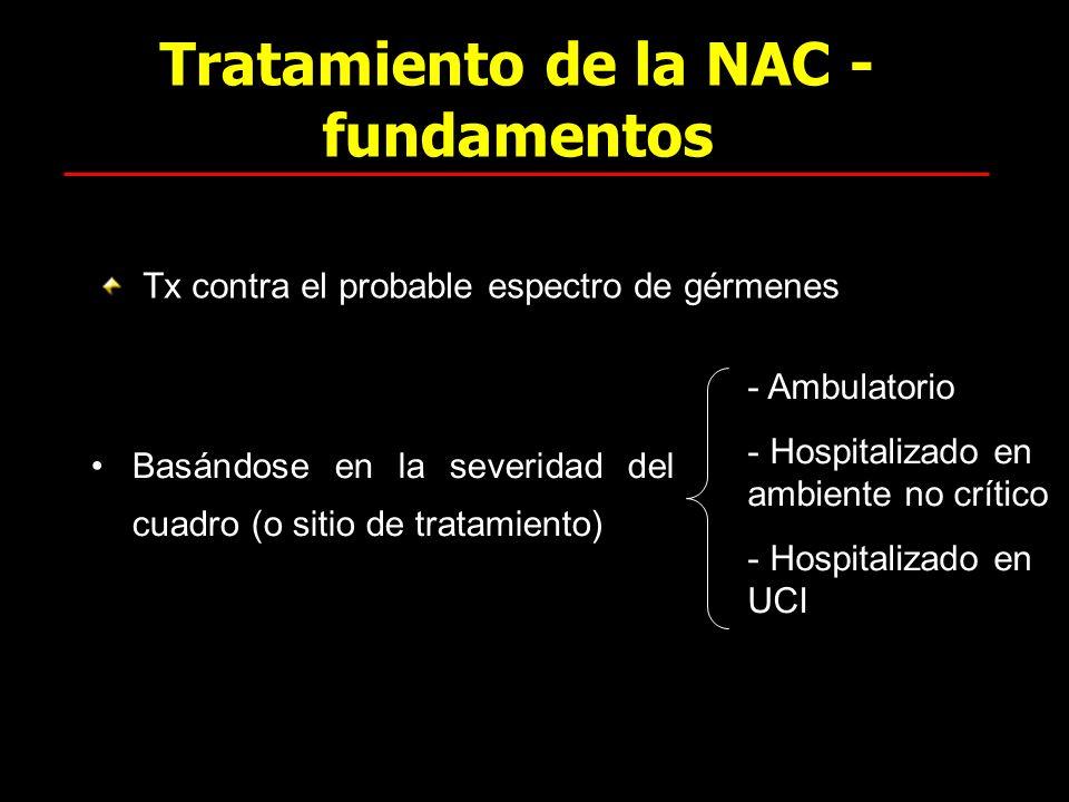 Tratamiento de la NAC - fundamentos