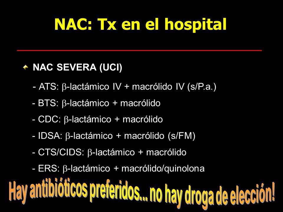 Hay antibióticos preferidos... no hay droga de elección!