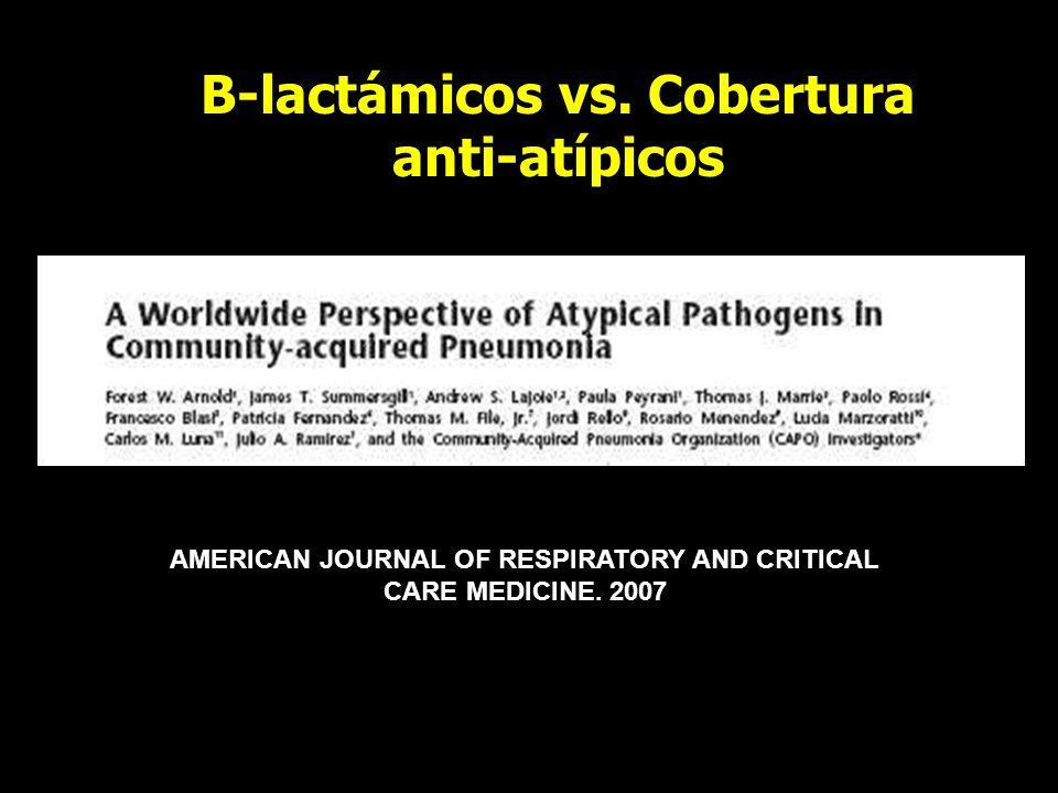 B-lactámicos vs. Cobertura anti-atípicos