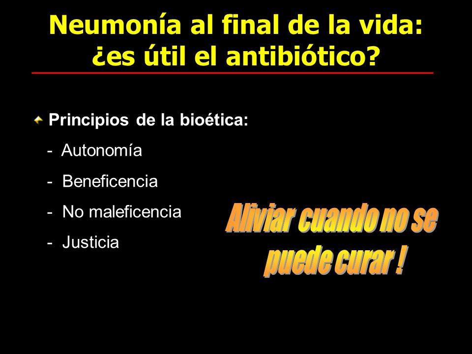 Neumonía al final de la vida: ¿es útil el antibiótico
