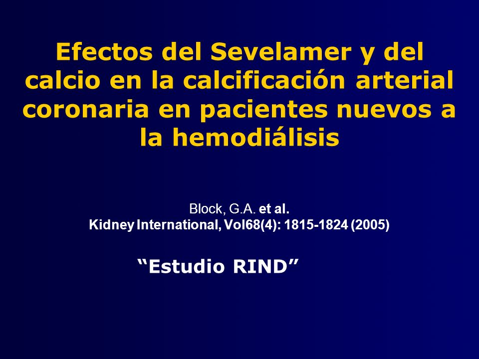 Block, G.A. et al. Kidney International, Vol68(4): 1815-1824 (2005)