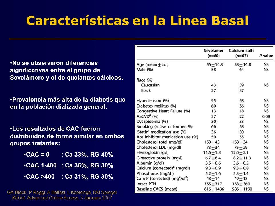 Características en la Linea Basal