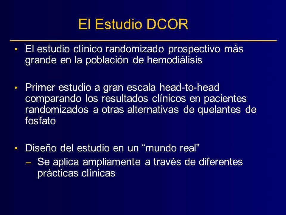 El Estudio DCOR El estudio clínico randomizado prospectivo más grande en la población de hemodiálisis.