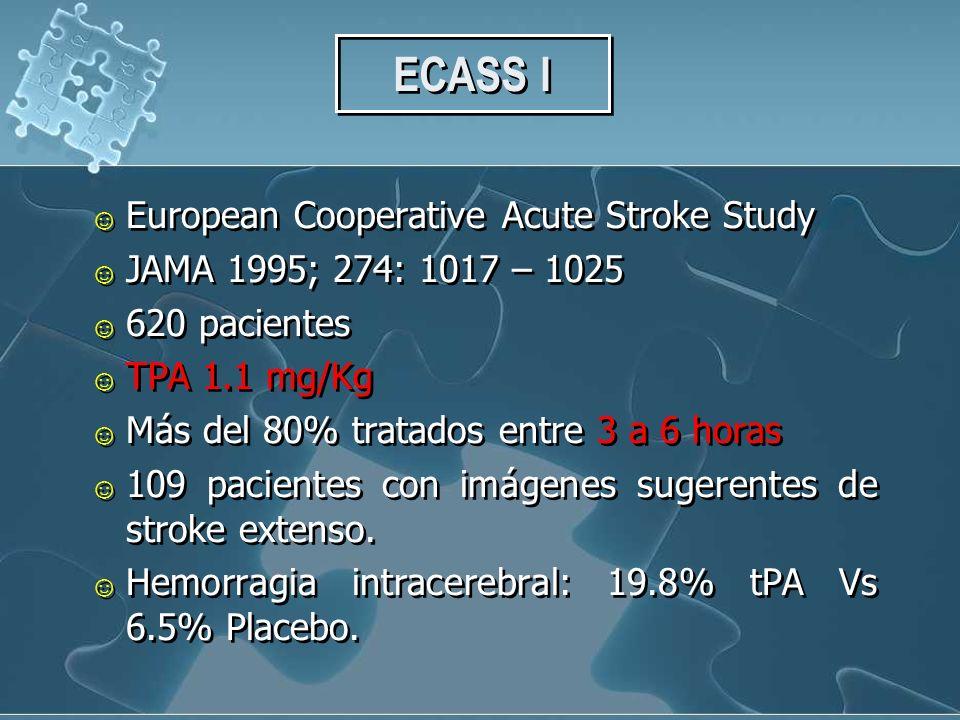 ECASS I European Cooperative Acute Stroke Study