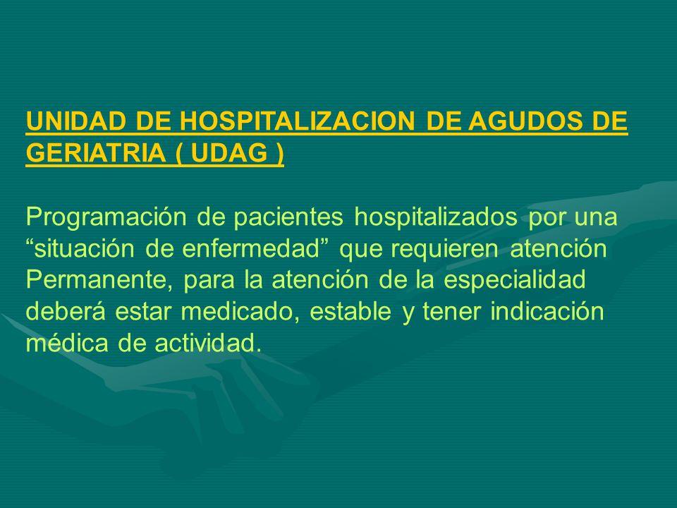 UNIDAD DE HOSPITALIZACION DE AGUDOS DE