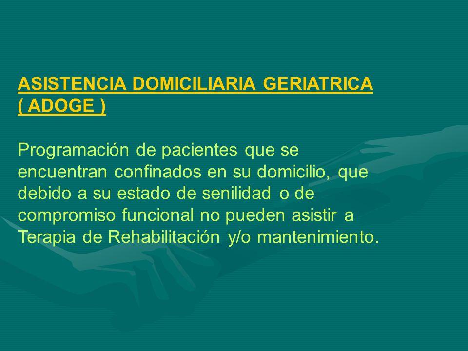 ASISTENCIA DOMICILIARIA GERIATRICA