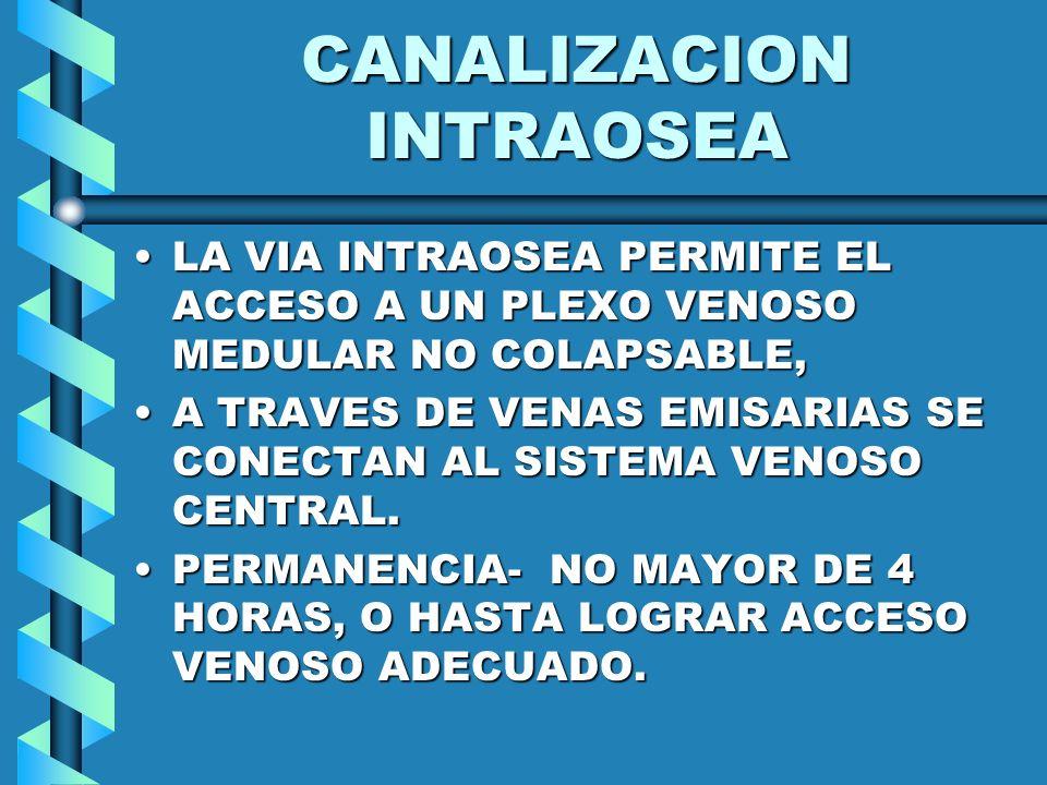 CANALIZACION INTRAOSEA
