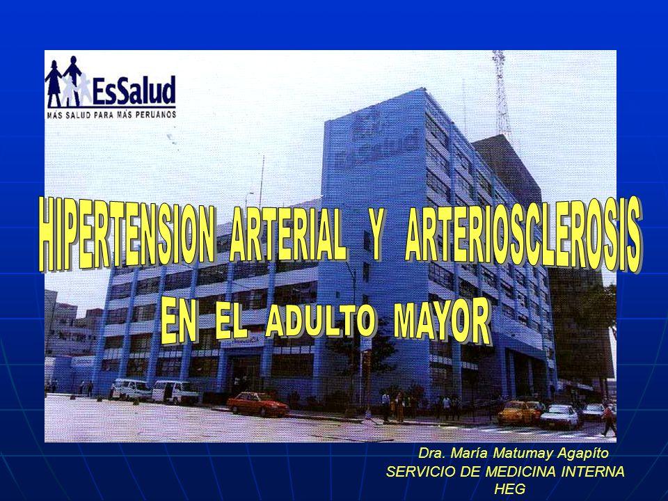 HIPERTENSION ARTERIAL Y ARTERIOSCLEROSIS