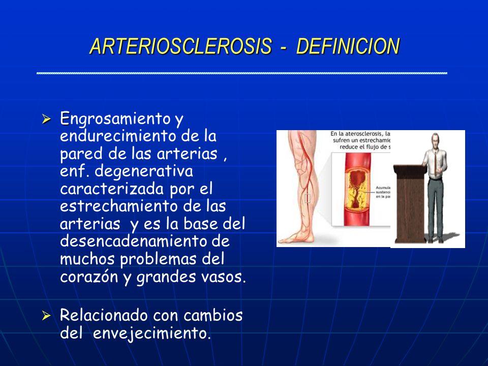 ARTERIOSCLEROSIS - DEFINICION