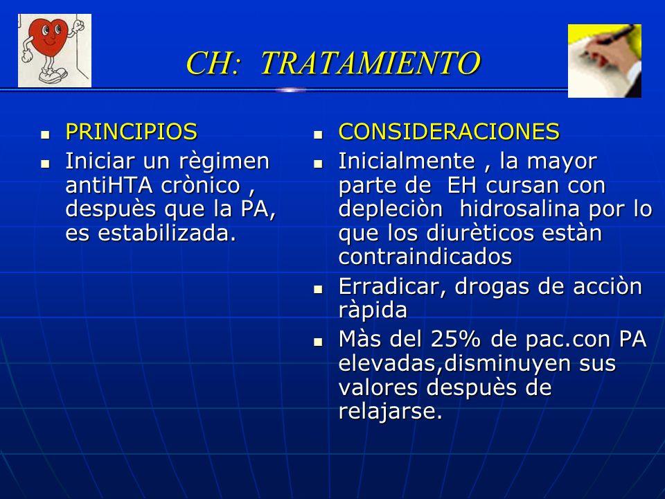 CH: TRATAMIENTO PRINCIPIOS