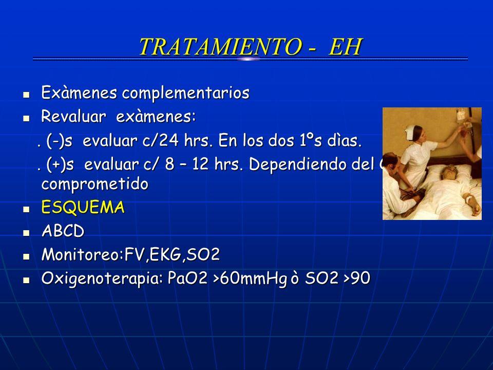 TRATAMIENTO - EH Exàmenes complementarios Revaluar exàmenes: