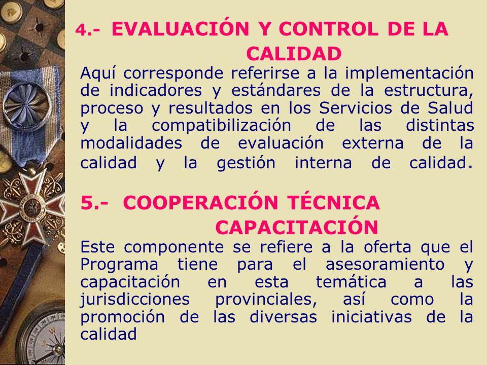 4.- EVALUACIÓN Y CONTROL DE LA