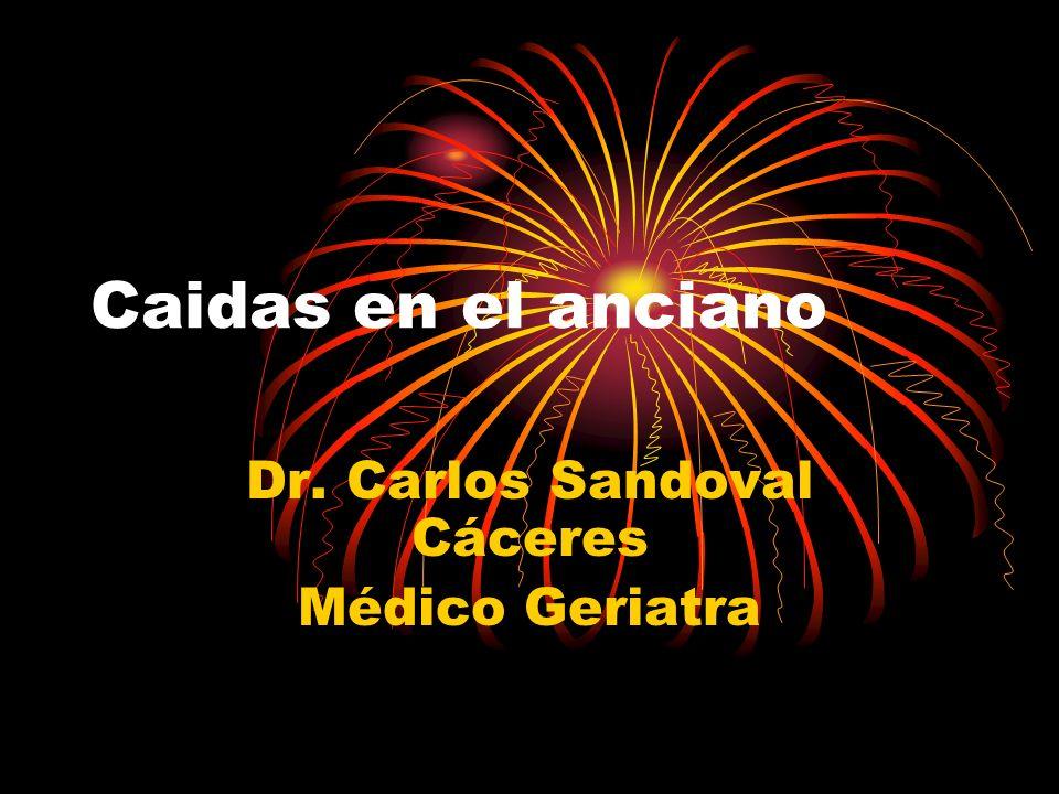 Dr. Carlos Sandoval Cáceres Médico Geriatra