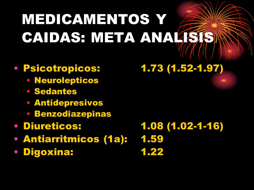MEDICAMENTOS Y CAIDAS: META ANALISIS