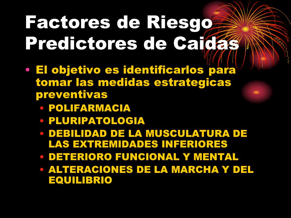 Factores de Riesgo Predictores de Caidas