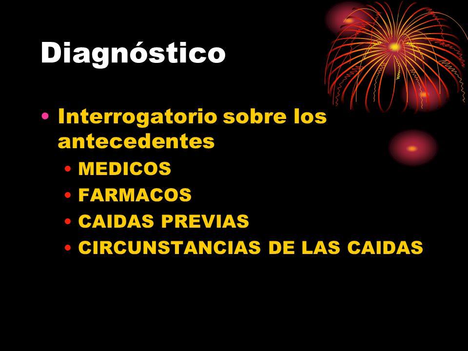 Diagnóstico Interrogatorio sobre los antecedentes MEDICOS FARMACOS