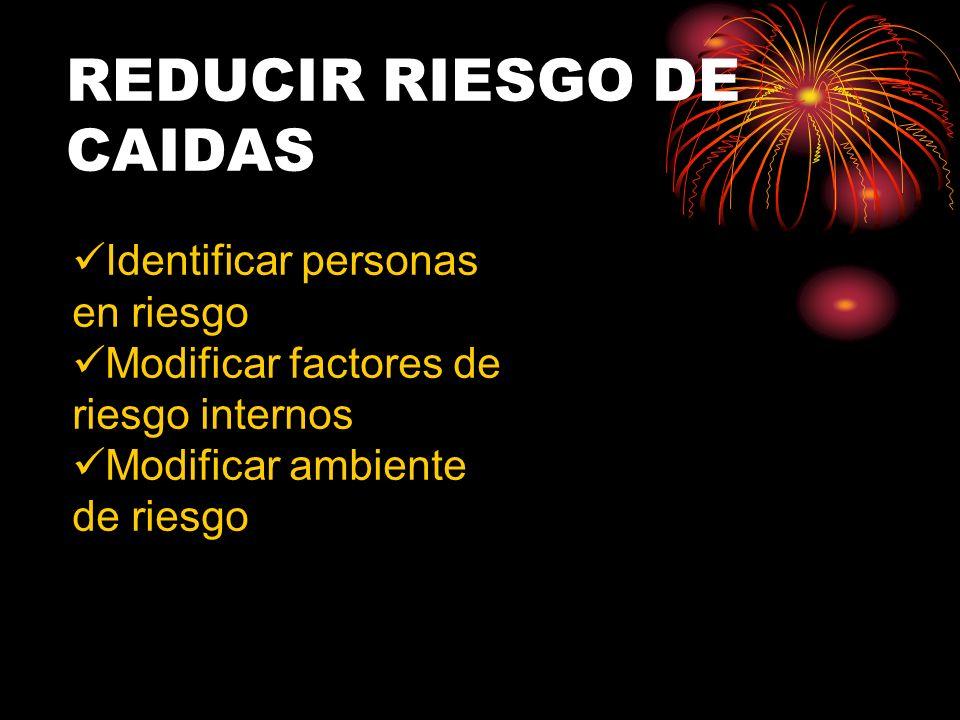 REDUCIR RIESGO DE CAIDAS