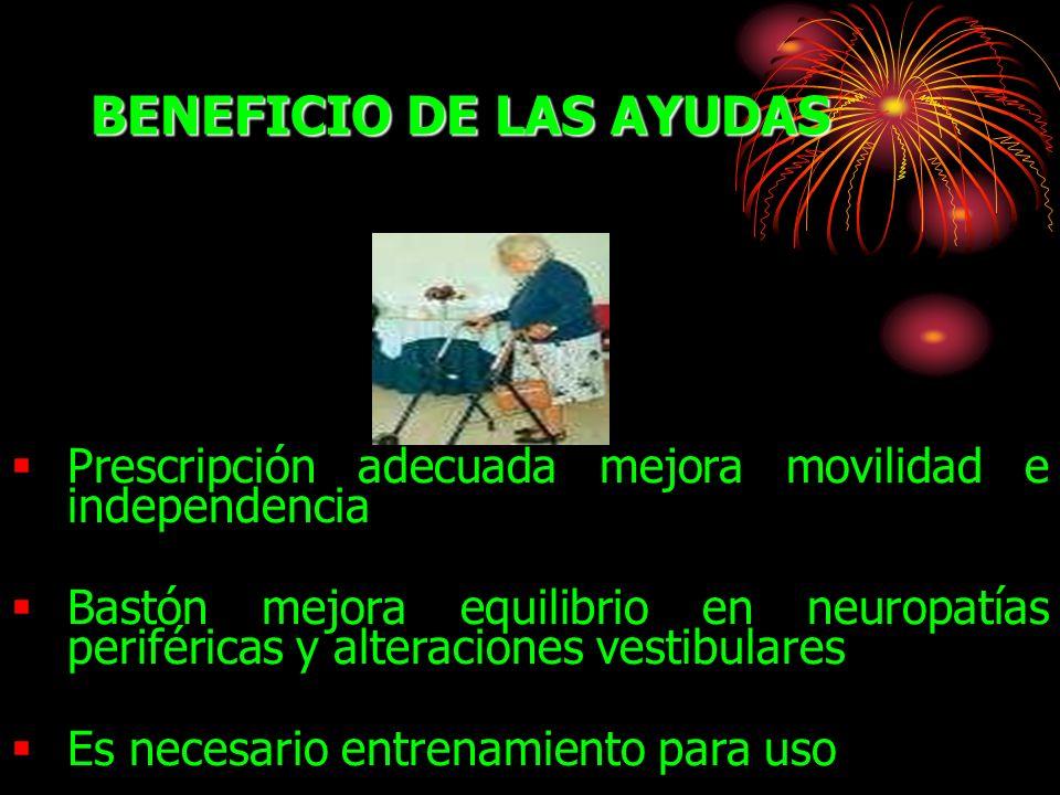 BENEFICIO DE LAS AYUDAS