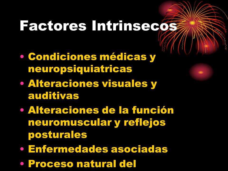 Factores Intrinsecos Condiciones médicas y neuropsiquiatricas