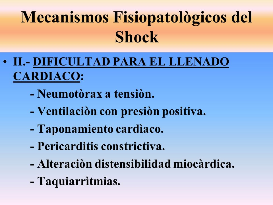 Mecanismos Fisiopatològicos del Shock