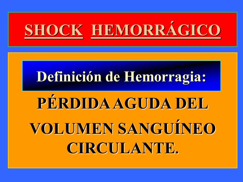 Definición de Hemorragia: