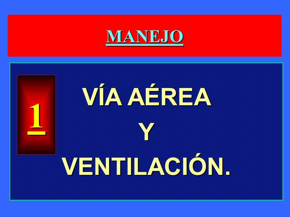 MANEJO VÍA AÉREA Y VENTILACIÓN. 1