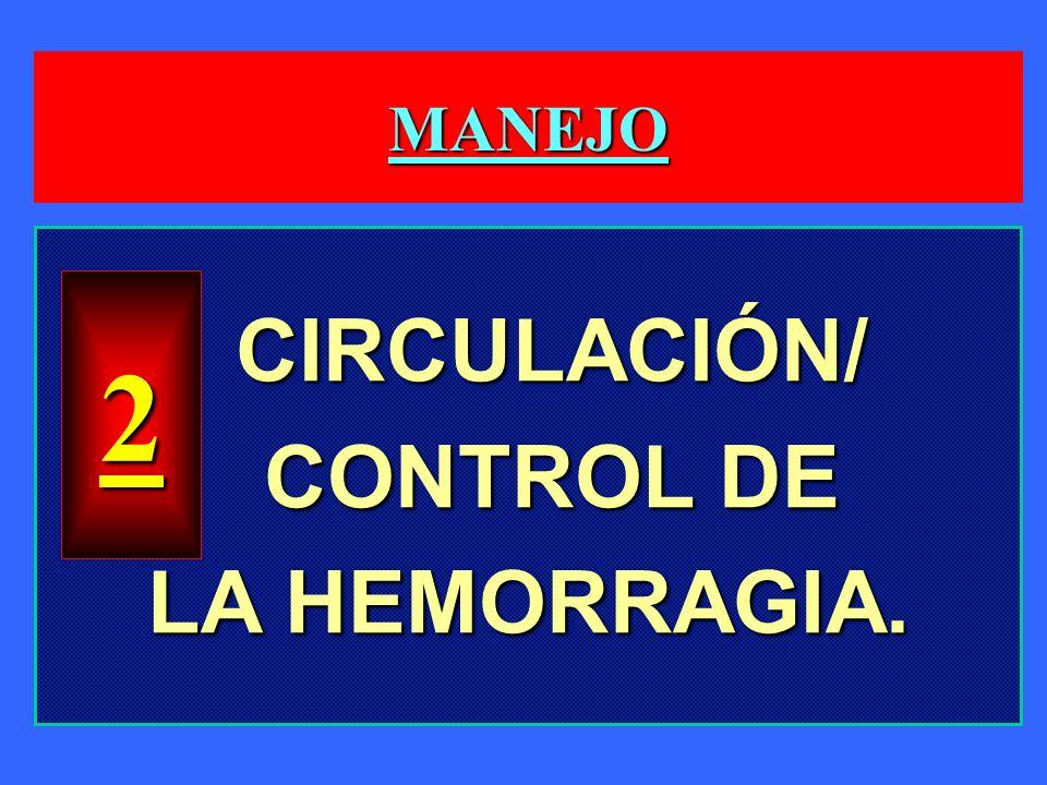 MANEJO CIRCULACIÓN/ CONTROL DE LA HEMORRAGIA. 2