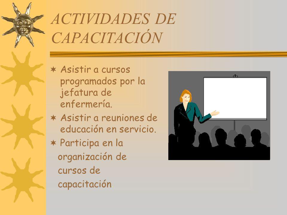 ACTIVIDADES DE CAPACITACIÓN