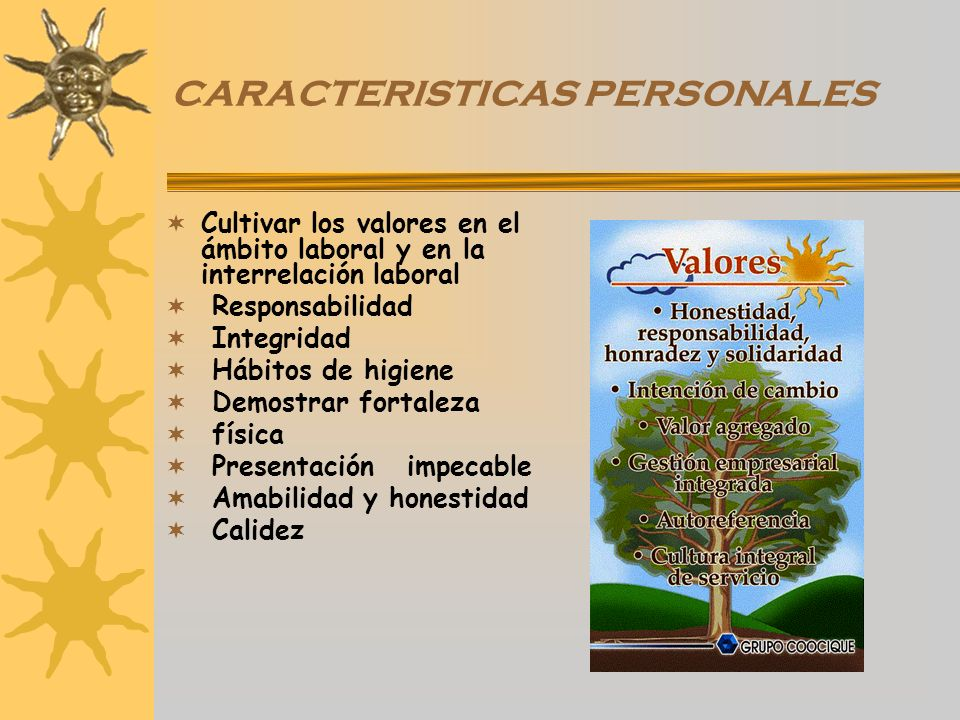 CARACTERISTICAS PERSONALES