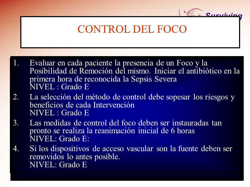 CONTROL DEL FOCO