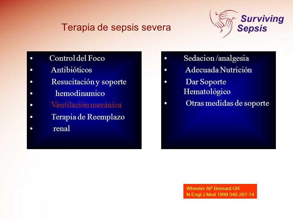Terapia de sepsis severa